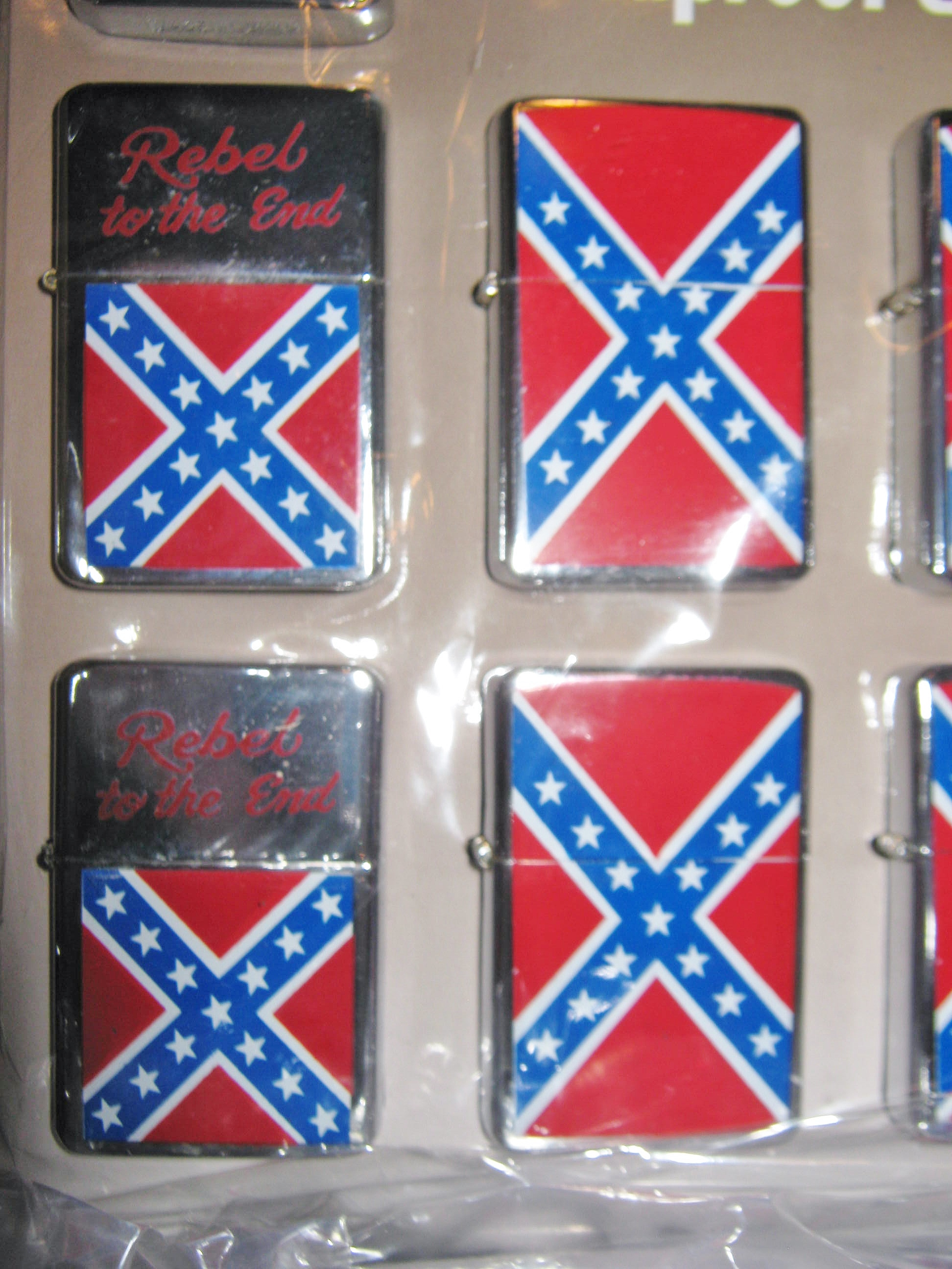 new confederate rebel flag windproof zippo style