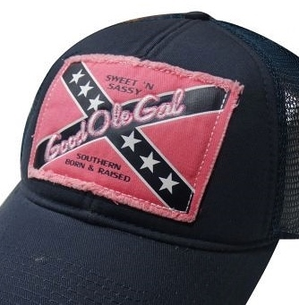 New Women s Confederate Rebel Flag Ball Cap w