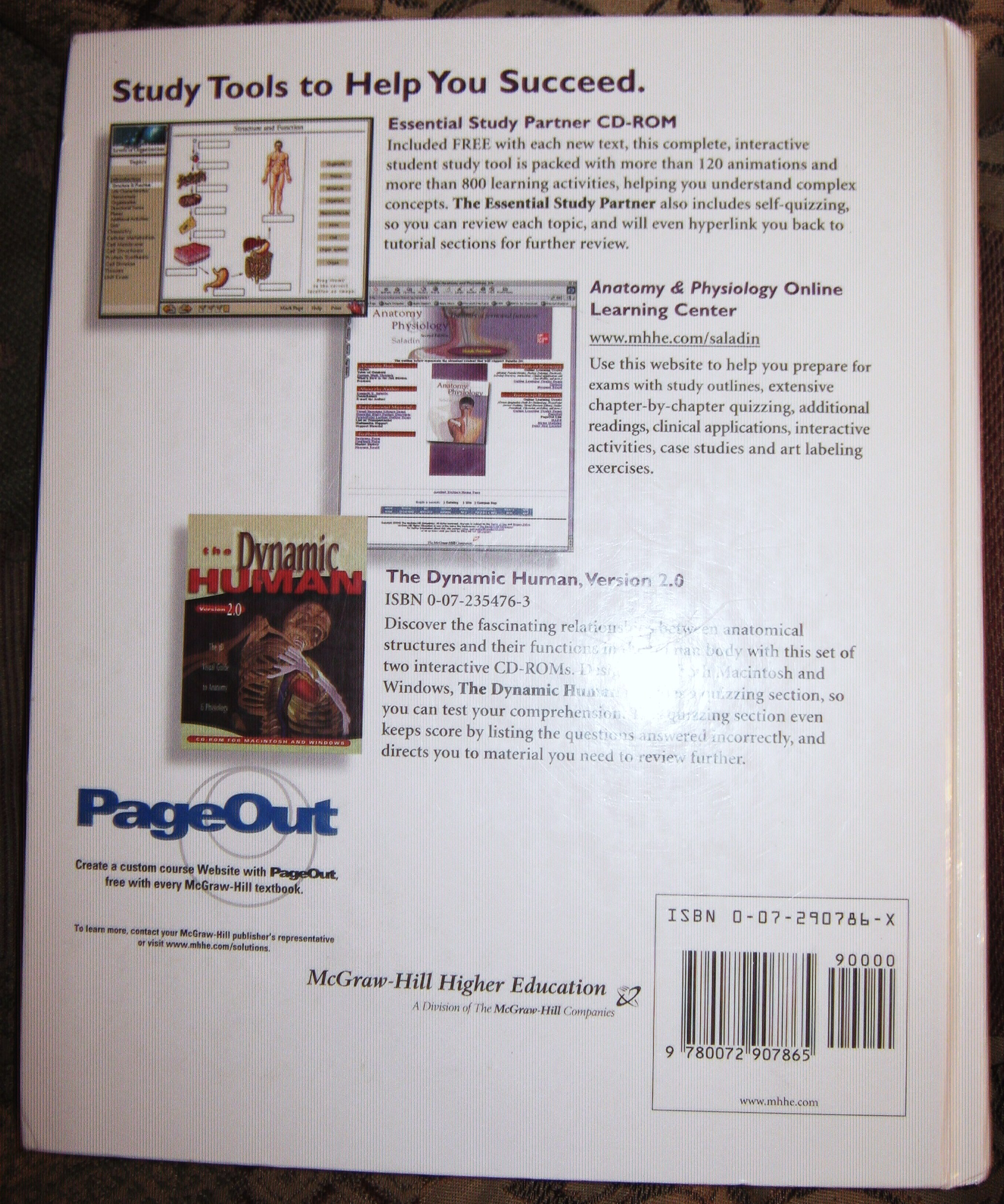 CLEARANCE! Pre-Owned College Textbook & Lab Manual Combo, Anatomy ...